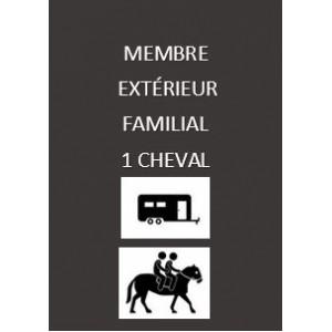 Adhésion extérieure familiale 1 cheval