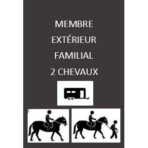 Adhésion extérieure familiale 2 chevaux