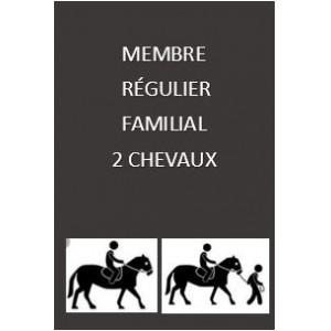 Adhésion régulière familiale 2 chevaux